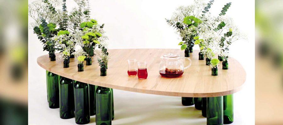 Comment fabriquer une table basse avec des bouteilles en plastiques tout sur le bricolage - Que mettre sur une table basse ...